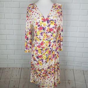 Jessica Simpson Floral Print Surplice Dress